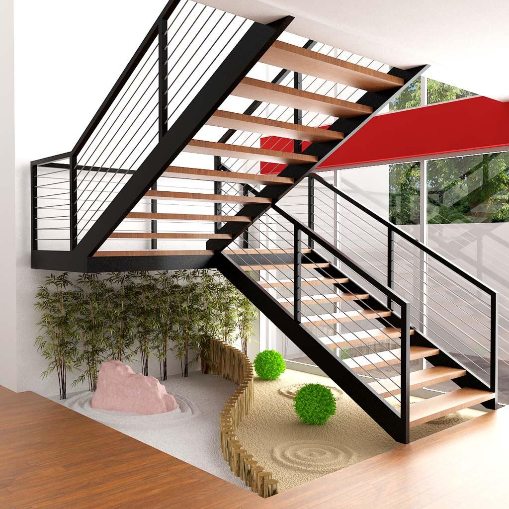 Jard n zen vinilchic for Huecos de escaleras modernos