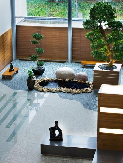 Jard n zen vinilchic for Decoracion de jardines interiores modernos